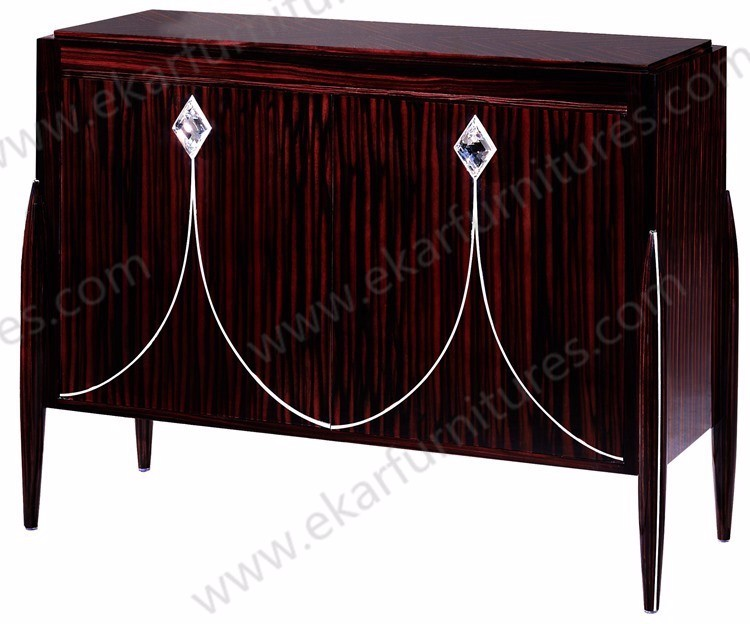 Black living home storage cabinets / cabinet furniture