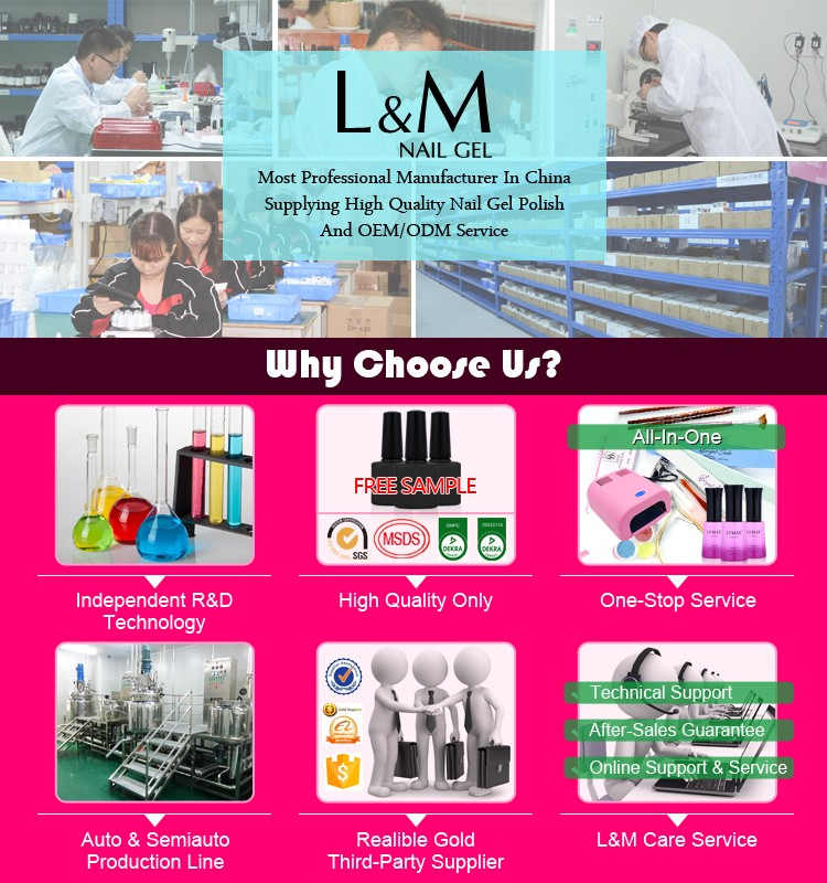 L&M factory supply oem odm gel nail polish bottle from guangzhou
