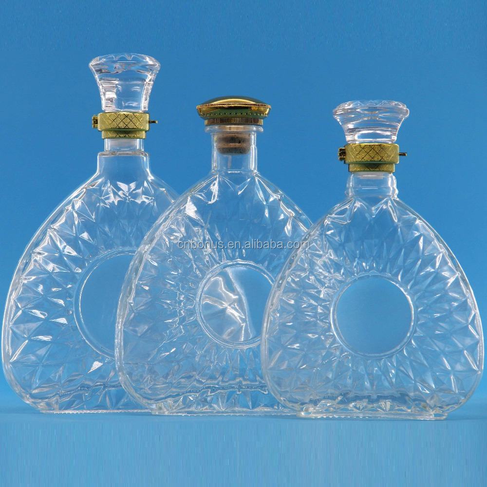 crystal glass congac bottle brandy bottle wine glass bottle for sale