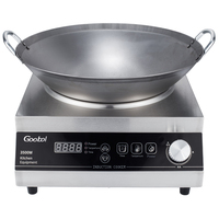 kitchen equipment multifunction stainless steel commercial induction cooker 3500W