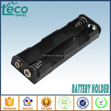 TBH-2A-4L-S Ningbo TECO Wire Leads Plastic 4 x 1.5 V AA Battery Storage Case Holder Black