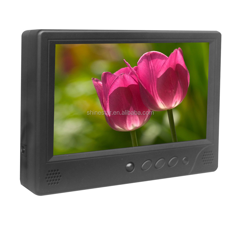 supermarket 7 inch LCD AD video display player with IR body sensor