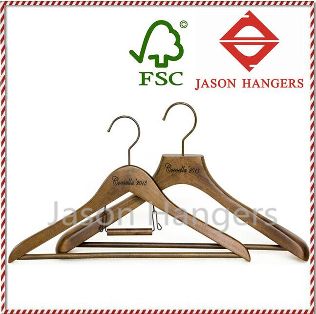 DL0966 Fashionable custom antique wooden suit hangers