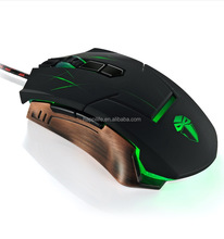 Professional Ergonomic Custom Design 9 Buttons PC Mouse 4 DPI Adjustment Optical Wired Gaming Mouse with vibration