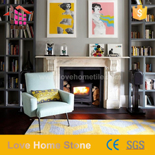 Cheap yellow marble fireplace with Long Service Life