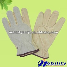 Cow Grain And Split Leather Car Driving Glove