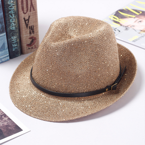 Summer wholesale sequins hillbilly women custom bowler fedora felt hat  bodies 6267aefa7aa5