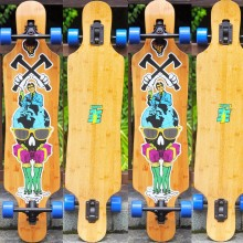 Close out Quality Bamboo Longboard Complete Drop Through Long Board Wholesale