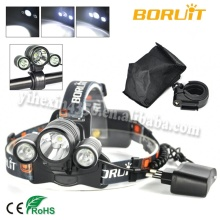Boruit 3T6 Rechargeable 5000lm LED Headlamp