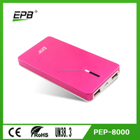 8000mAh backup battery, smart mobile phone charger and super fast charging portable powerbank