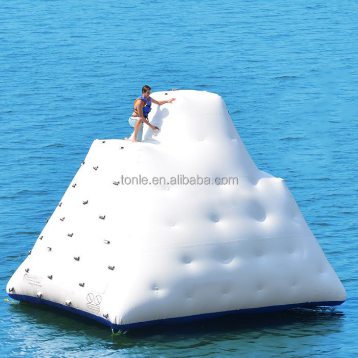 giant Water Floating Inflatable Ice climbing Inflatable Glacier Slide for water park