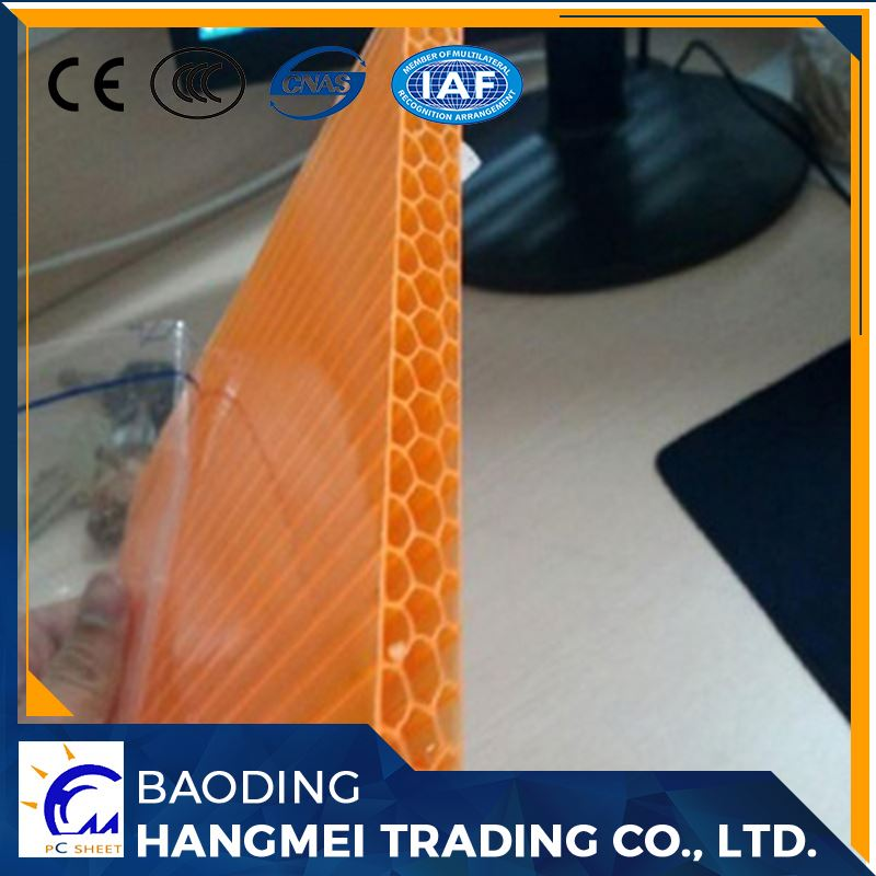 Cellular honeycomb polycarbonate sheet hollow plastic pc sheets