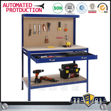 Heavy duty workbench tools box steel stainless Metal Workshop Table With 2 Drawer