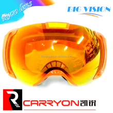 Ladies ski goggles with double lens