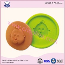 Cupcake decorating sugar paste baby face fondant silicone mold