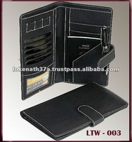 GENUINE LEATHER TRAVEL WALLET, TRAVEL WALLET