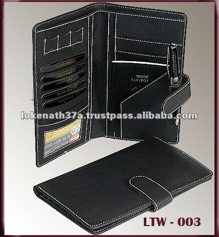 RFID PROTECTED GENUINE LEATHER TRAVEL WALLET,