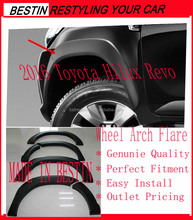 GENUINE TOYOTA HILUX REVO 2016 SMART CAB BLACK FENDER FLARES WHEEL ARCH