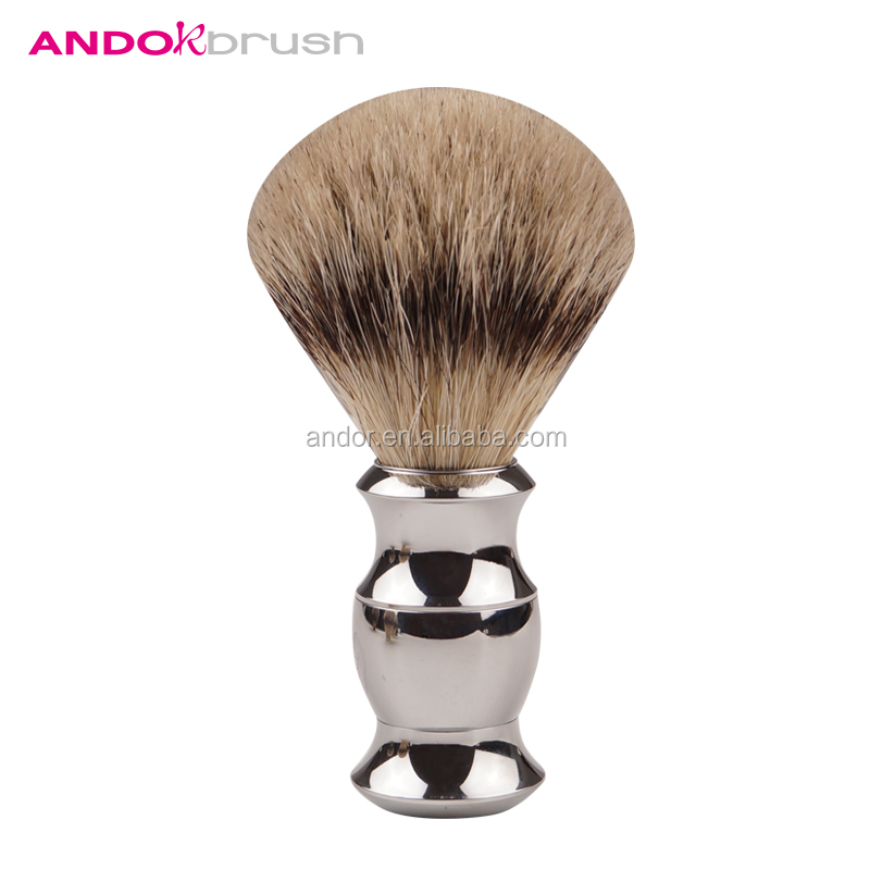 2017 andor new arrival oem synthetic shaving brushes zinc alloy handle