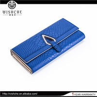 Wishche W114 Leather Material Blue Color 3 Set Women New Designer Lady Wallet