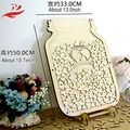 wholesale black white heart shape wedding guest book