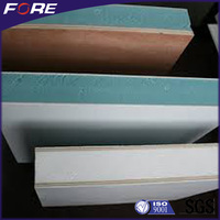 Low thermal conductivity FRP and polyurethane foam sandwich panel construction materials used for partition wall construction
