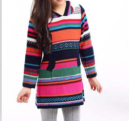 2015 new fashion knitted design sweater wool sweater design for girl
