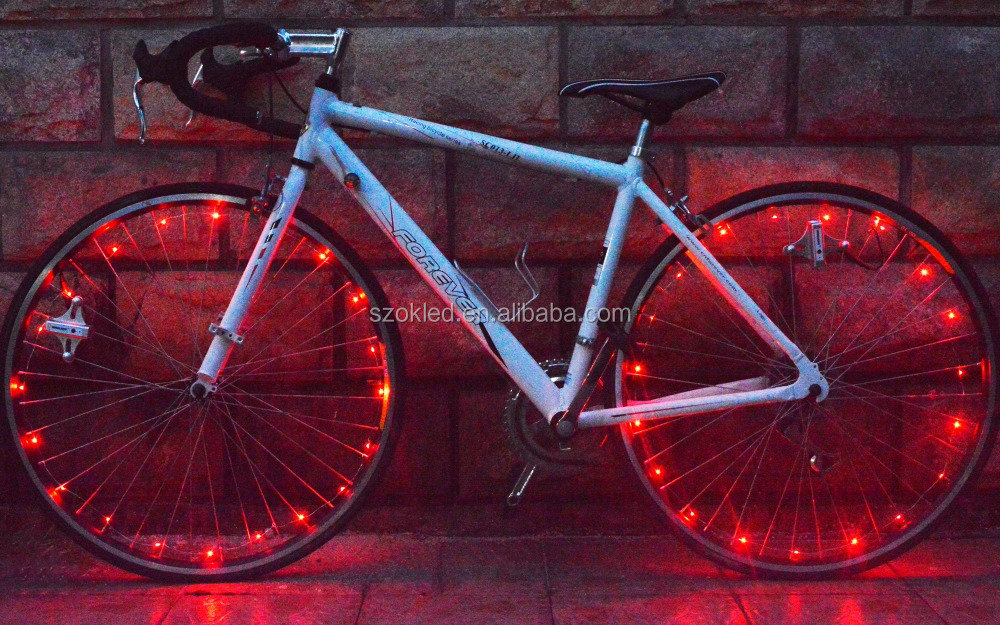 2.35m Chargable led string 20 LED bicycle wheel decorative light with six colors optional