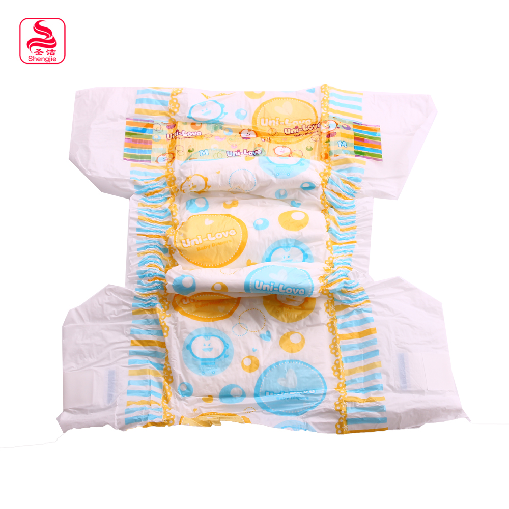 high quality absorption soft and dry clothlike cute disposable sleepy baby and child diapers