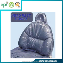 Eco-friendly Clear Plastic Headrest Cover for Dental Chairs - 14'' x 9 1/2 '',250pcs/Box