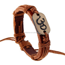 Vintage Brown Braided Men's Genuine Leather Bracelet
