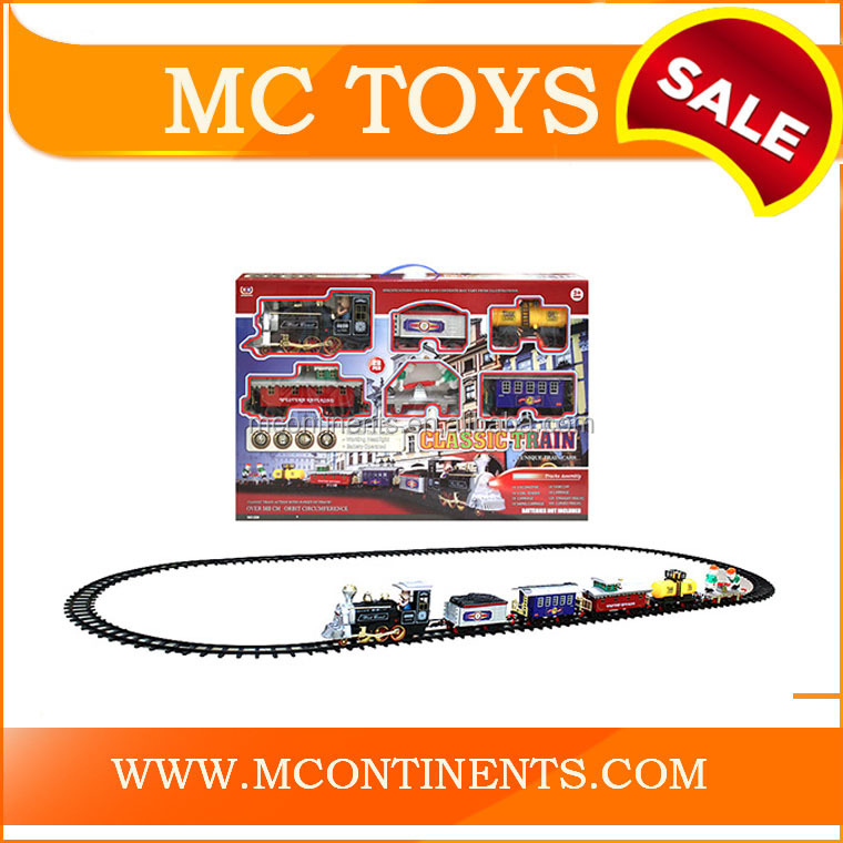 Electric Rail Train Toy With smoking And Sound