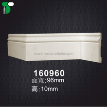 160960# Home Design Flat PU Foam Panel Moulding Skirting / Baseboard For Wall Decor