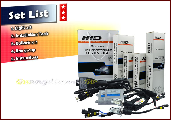 Car HID Xenon Kit h4 high low H4-3 Hi/Lo car Bi xenon hid kits 55w quick start
