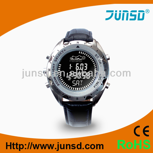 Metal case digital altimeter watch JS-715
