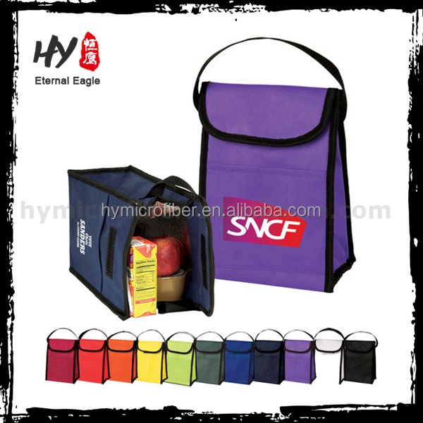 Metallic tote promotional handled style non woven bag