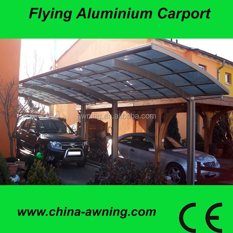 2 car garage carport aluminum structure/steel carport canopy design