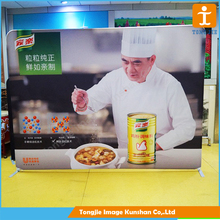 Horizontal banner stand advertising exhibition back wall