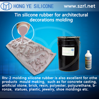 silicone rubber casting artificial stone mould, silicone+catalyst two parts silicone