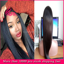 Top Quality Peruvian Human Hair Full Lace Wig Straight Long 30 Inch 100% Human Hair