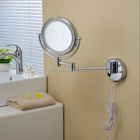 Round wall mounted led best lighted makeup mirror