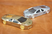 Silver /Gold colored newly design creative car shaped cigarette lighter with USB
