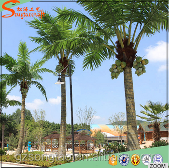 Factory Price Plastic Artificial Coconut Palm Tree Outdoor Leaves of Names India for Garden Drcoration