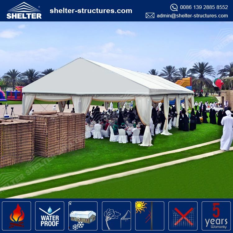 20m span wooden floor PVC garden party marquee tent for sale Used for different outdoor events, parties, weddings.