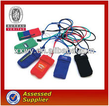custom lanyards with mobile phone sock/pouch