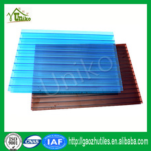 Grade A soundproof pc hollow sheet extrusion machine polycarbonate sunshine sheet