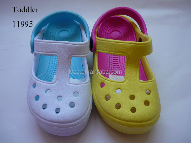 Girls eyekepper custom colorful garden shoes clog sandals
