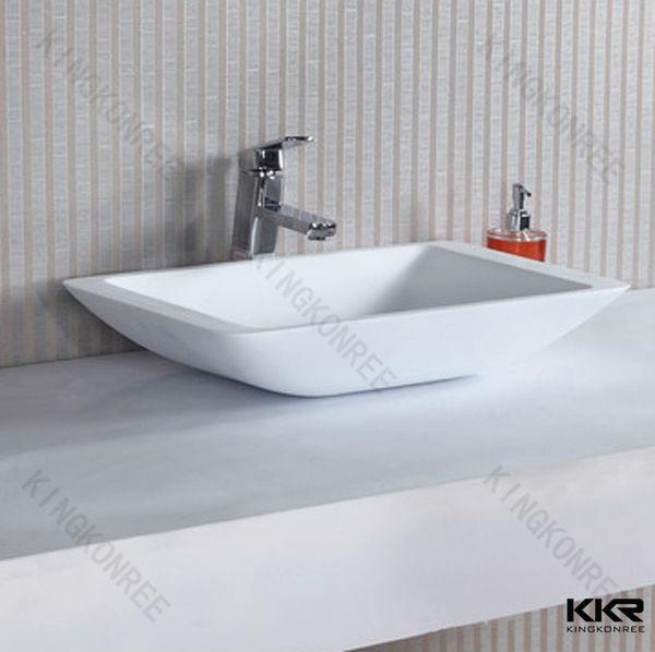 Witte Badkamer Wastafel ~ badkamer stenen wastafel witte steen hars wastafel badkamer wastafels