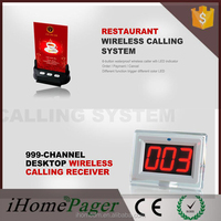 Restaurant Wireless Waiter Call Bell Service