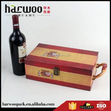 High end OEM quality cardboard leather wine carrier box with competitive price